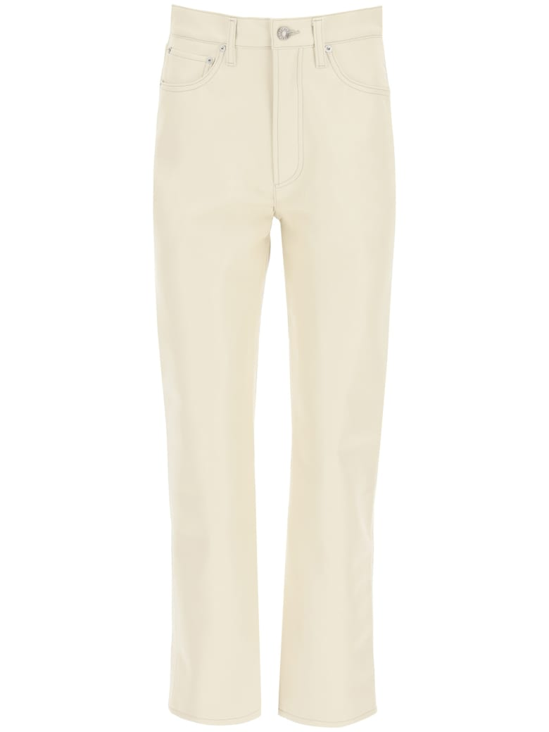 AGOLDE Recycled Leather Trousers - POWDER (Beige)