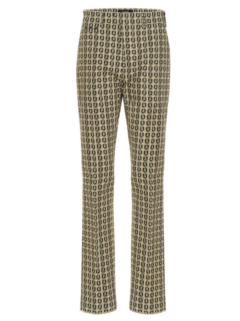 Fendi 'ff Interlace Bamboo' Pants - Multicolor
