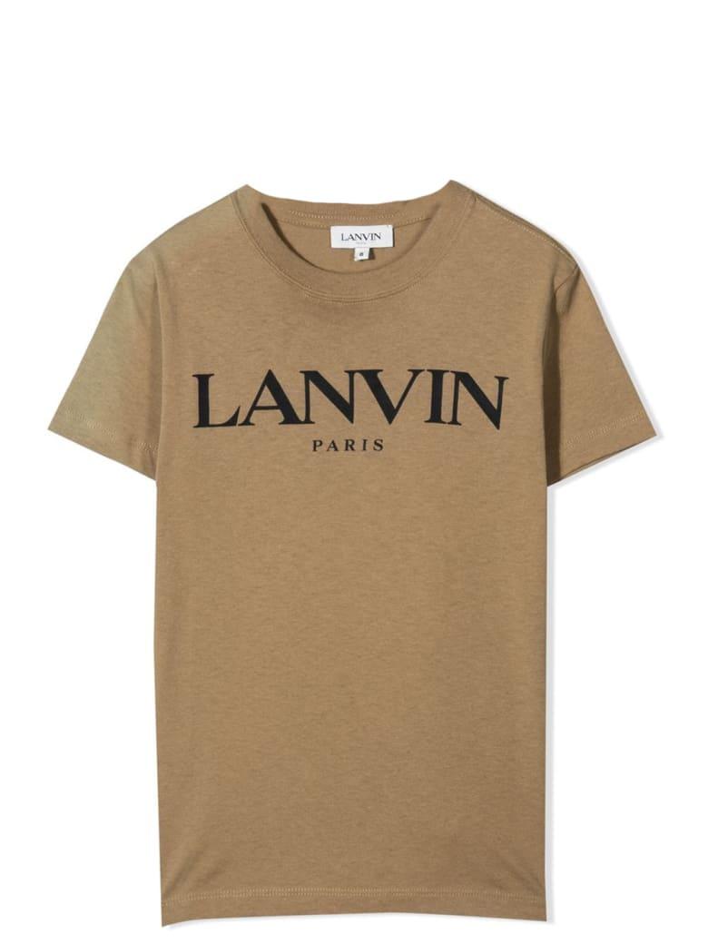Lanvin T-shirt With Print - Khaki