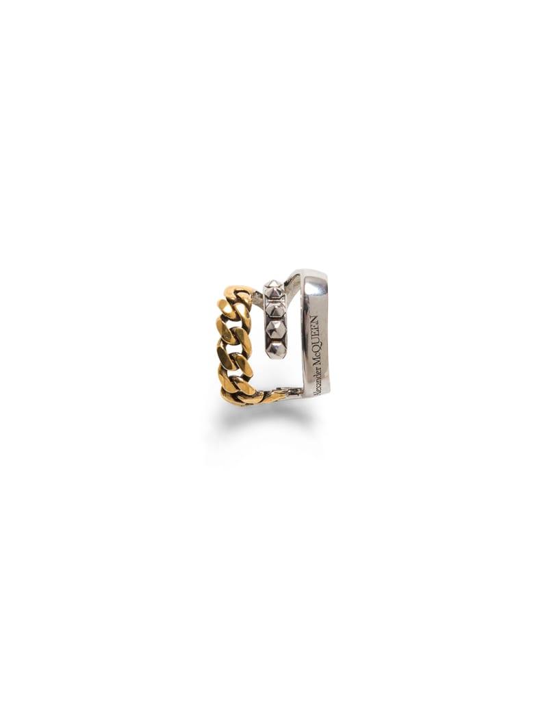 Alexander McQueen Punk  Antique Brass Earring - Metallic