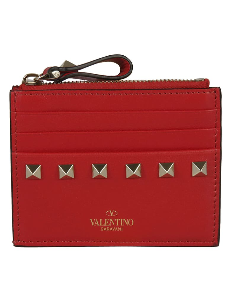 Valentino Garavani Studded Card Holder - Rogue