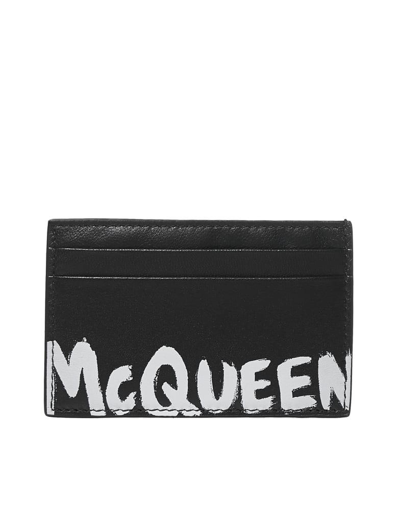 Alexander McQueen Wallet - Black white