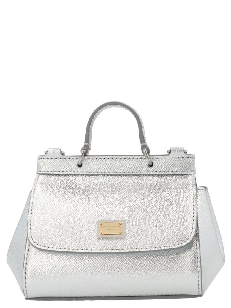 Dolce & Gabbana 'sicily' Mini Bag - Silver