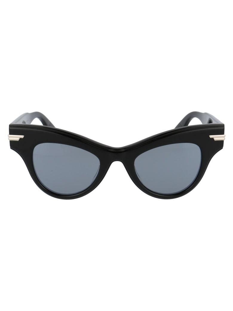 Bottega Veneta Bv1004s Sunglasses - 006 BLACK BLACK SILVER