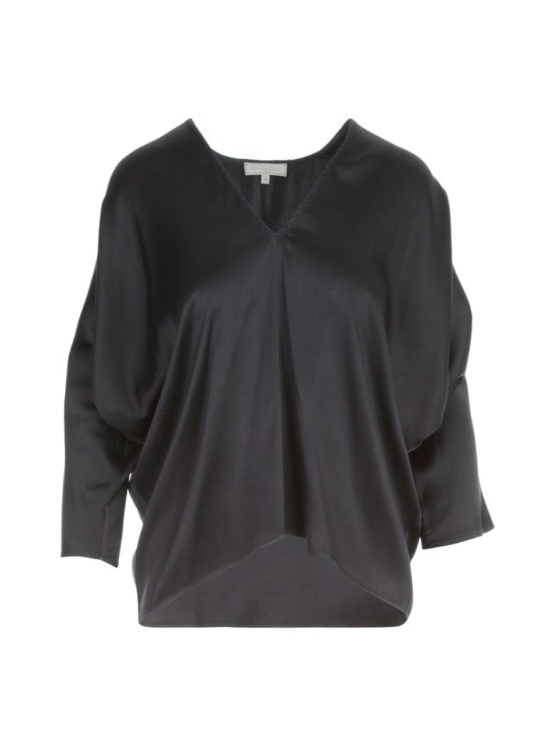 Antonelli Silk V Neck 3/4s Shirt - Blue