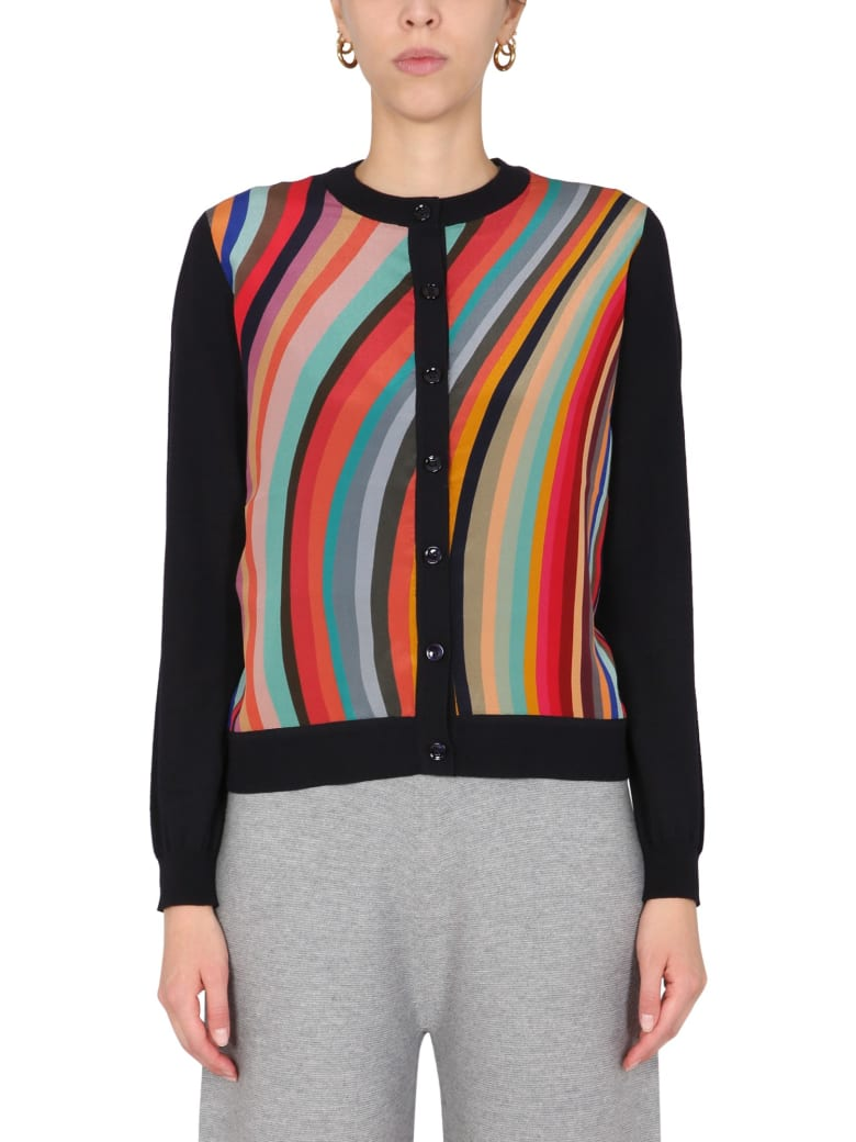 PS by Paul Smith Round Neck Cardigan - MULTICOLOR