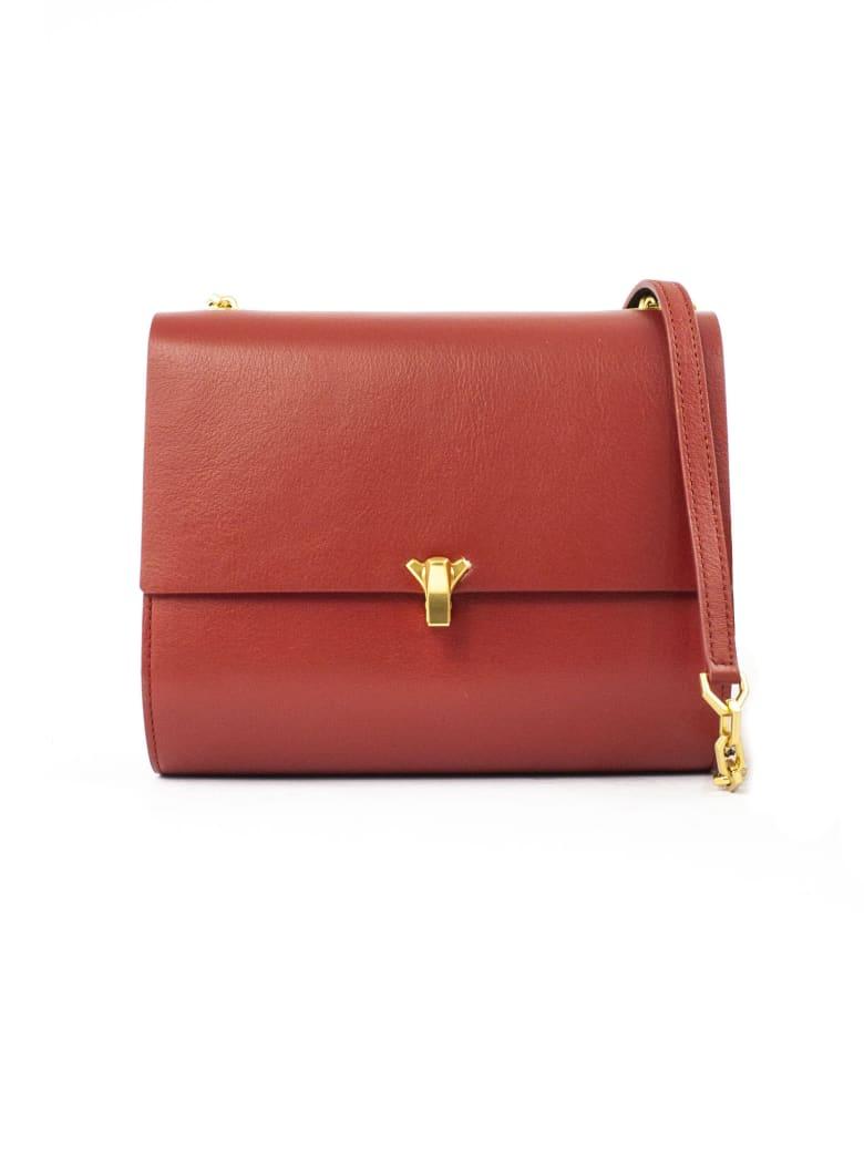 the VOLON Gabi Red Shoulder Bag - Rosso