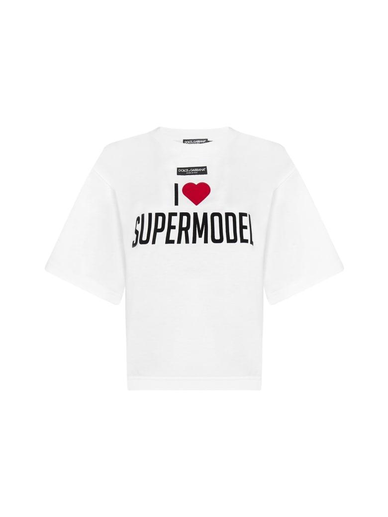 Dolce & Gabbana T-Shirt - Supermodel fdo bianco