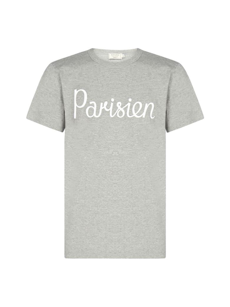 Maison Kitsuné Parisien Cotton T-shirt - Grigio melange