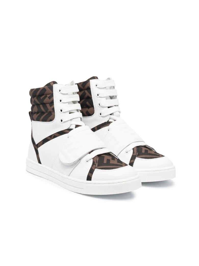 Fendi Sneakers With Ff Logo - Bianco-nero