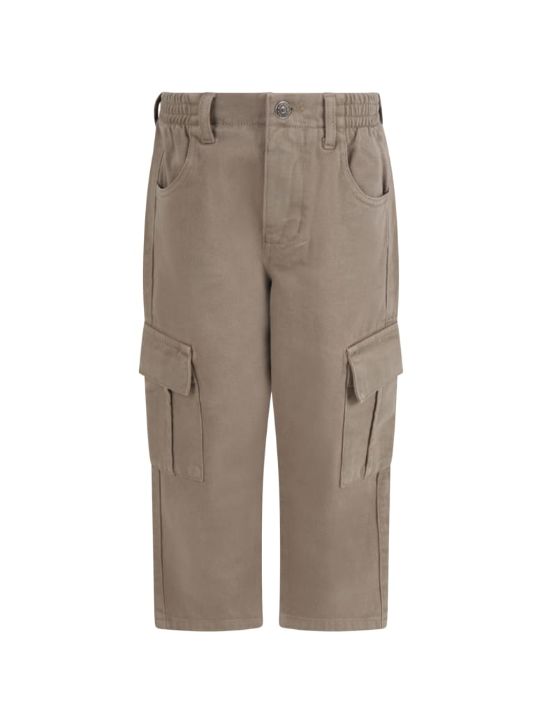 The New Society Green ''vincent'' Pants For Boy - Green