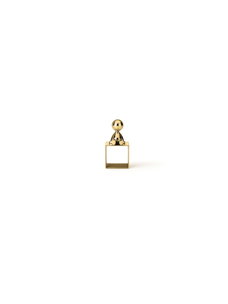 Ghidini 1961 Omini - Napkin Holder 2 Polished Brass - Polished brass