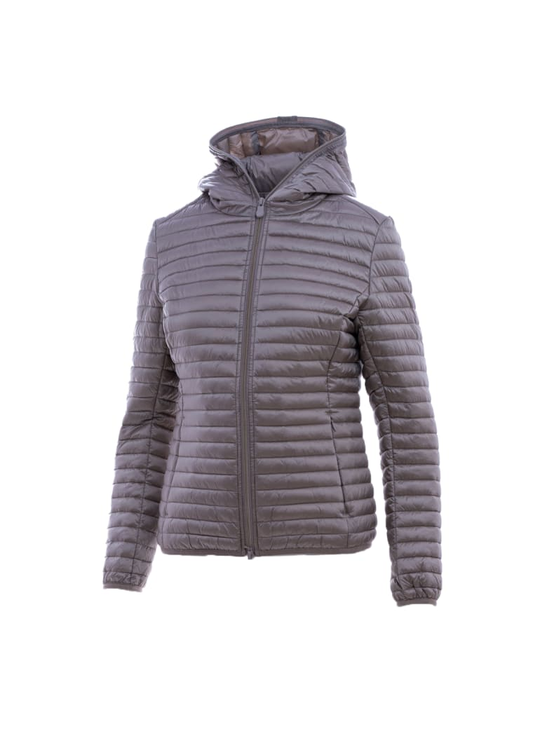 """Save the Duck Save The Duck """"daisy"""" Down Jacket - PEARL GREY"""