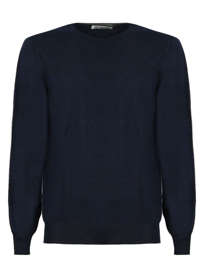 Brunello Cucinelli Blue Virgin Wool And Cashmere Sweater - Blu