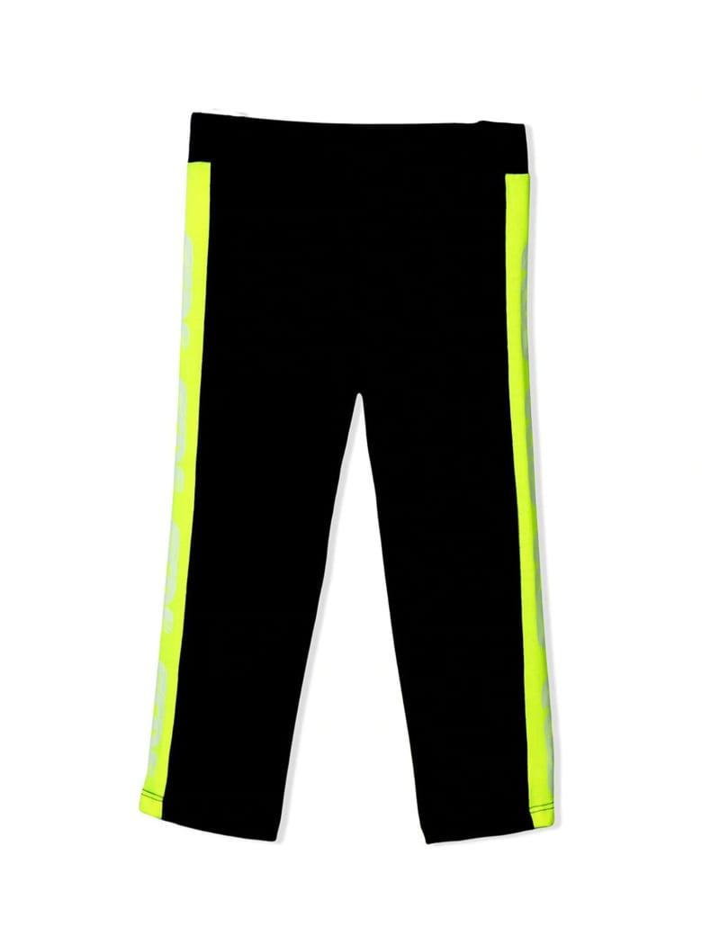 GCDS Black Cotton Blend Leggings - Nero
