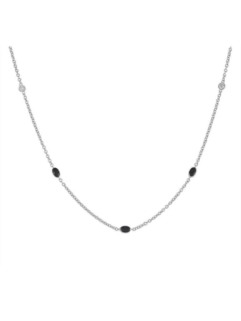 Lo Spazio Jewelry Lo Spazio Blue Sapphire and Diamond  Necklace - Blue
