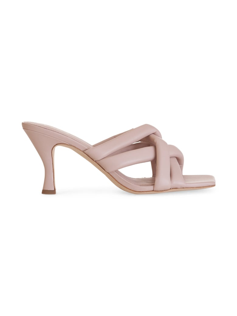 Ash Mina Knotted Leather Sandals - ROSA