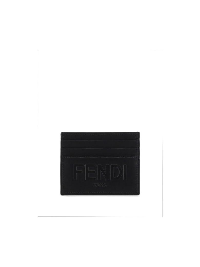 Fendi Card Holder - Nero+palladio