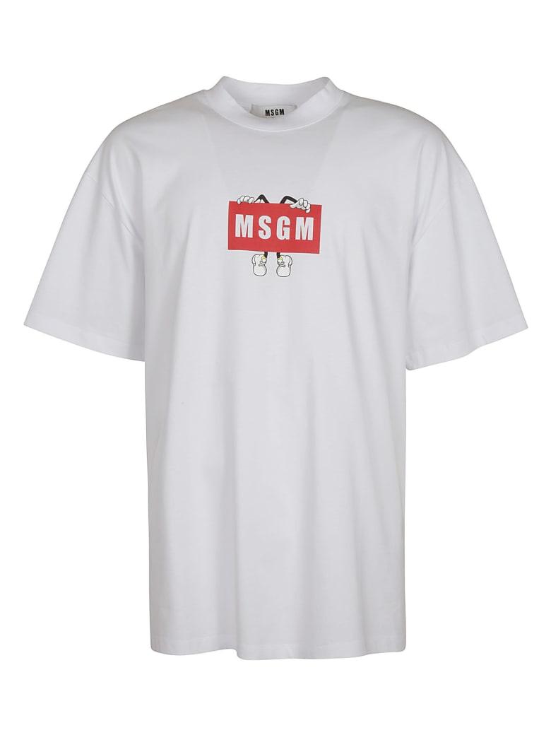 MSGM Classic Logo Print T-shirt - White