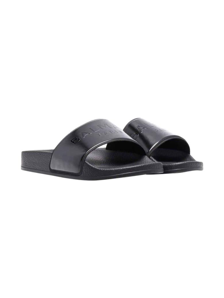 Balmain Unisex Black Slippers - Nero