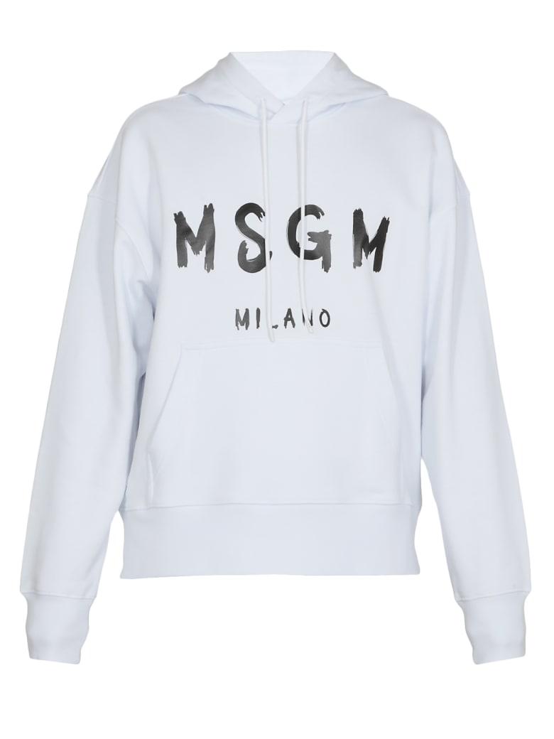 MSGM Logo Hoodie - WHITE