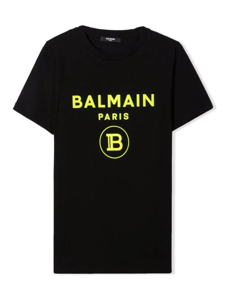 Balmain Black Cotton T-shirt - Nero
