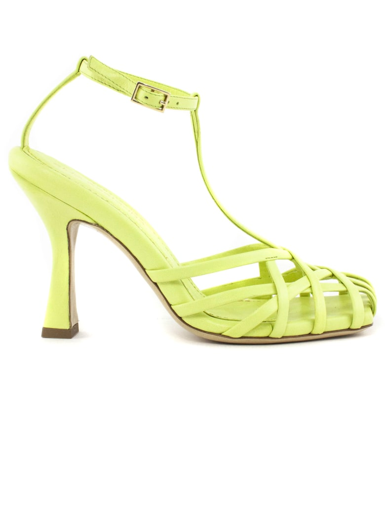 Aldo Castagna Lidia Green Leather Sandal - Pistacchio