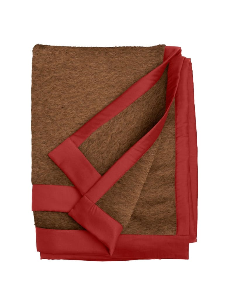 Midsummer Milano Double Mohair Plaid - Brown-Red