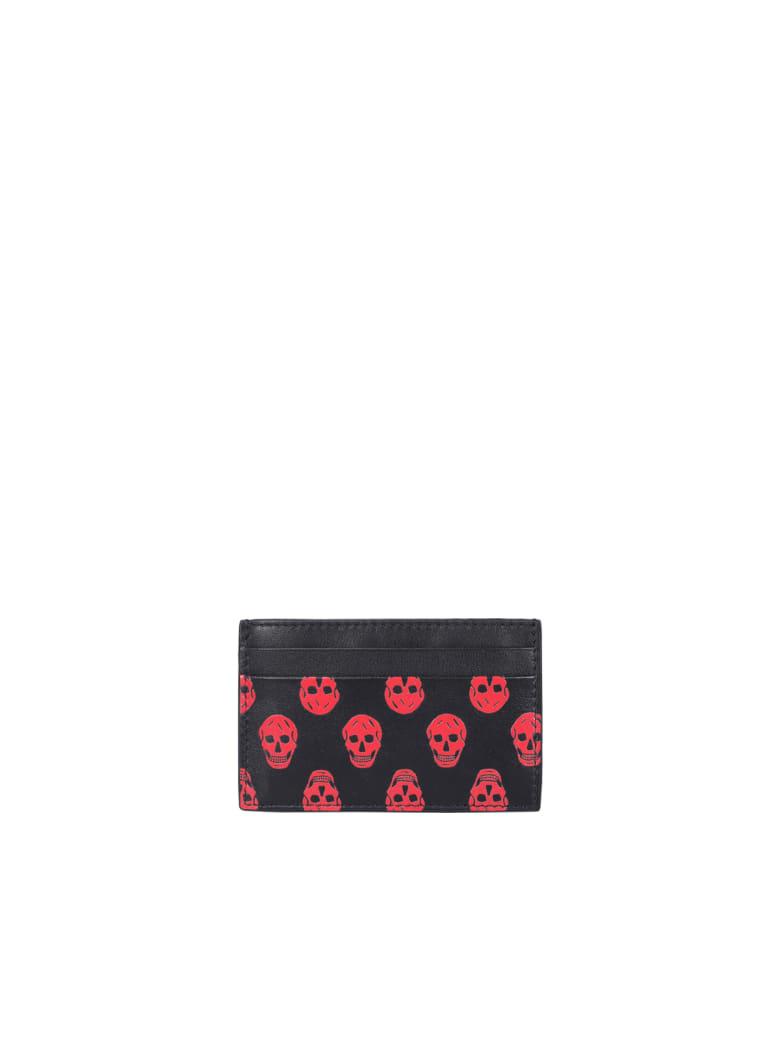 Alexander McQueen Skull Cards Holder - Nero e Rosso