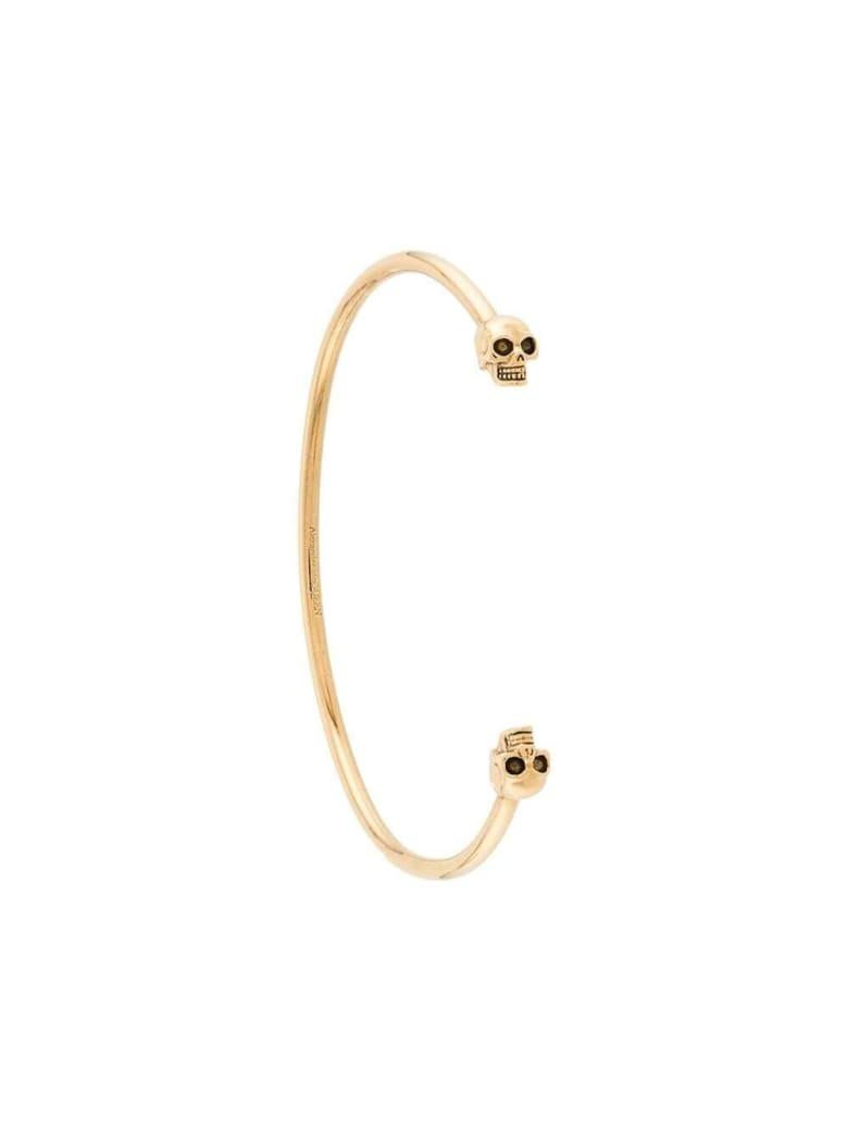 Alexander McQueen Skull Bracelet In Gold-colored Brass - Metallic