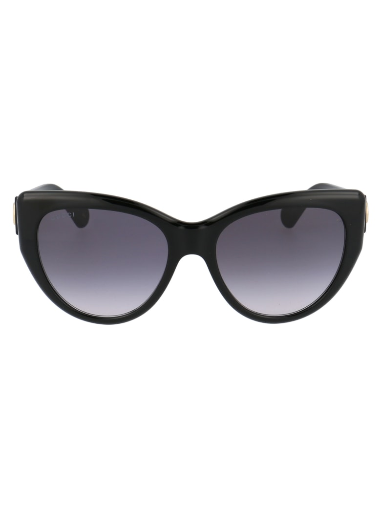 Gucci Gg0877s Sunglasses - 001 BLACK BLACK GREY