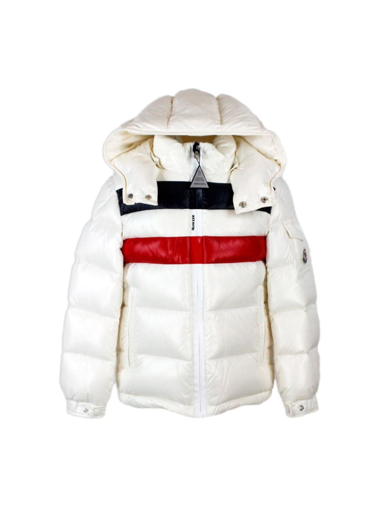 Moncler Down Jacket With Hood - White