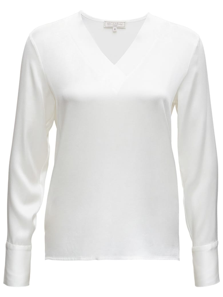 Antonelli White Silk Blouse - White