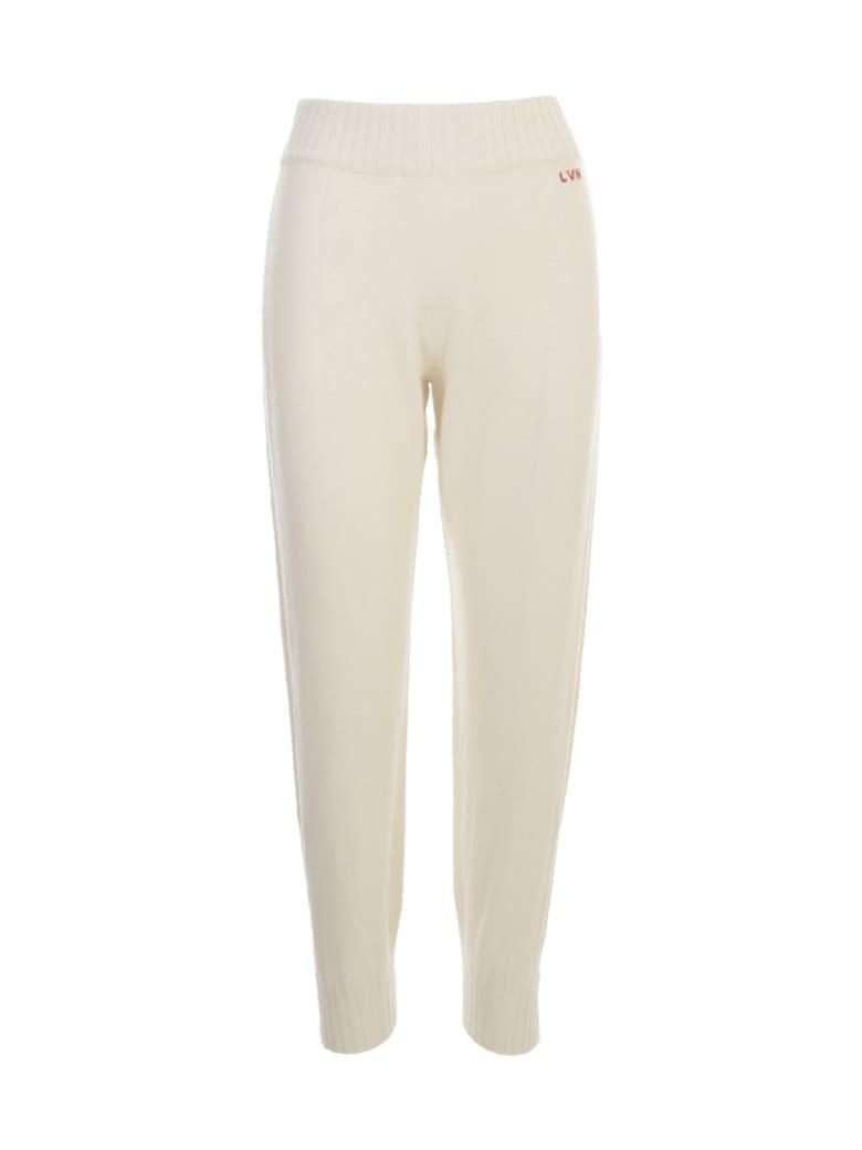 Liviana Conti Side Band Trousers - Cream