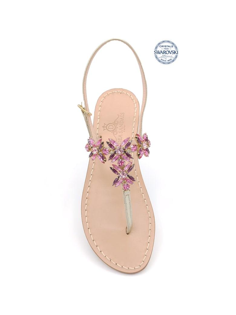 Dea Sandals Bagni Di Tiberio Jewel Thong Sandals - gold, pink, amethyst