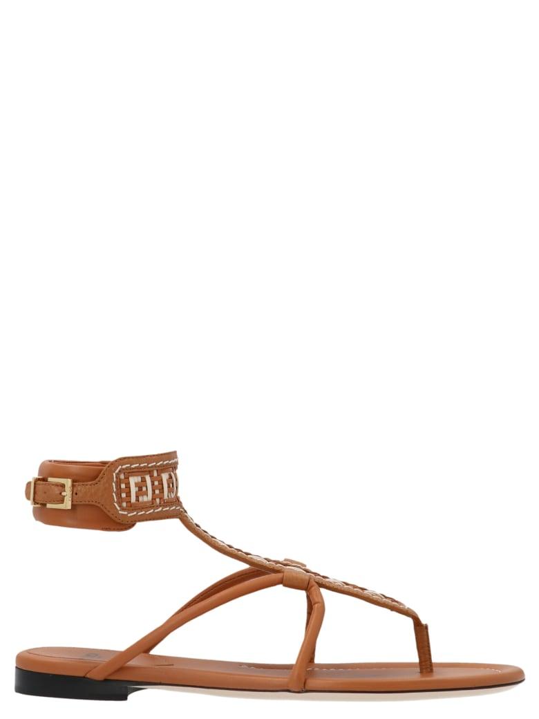 Fendi 'ff Interlace' Shoes - Brown