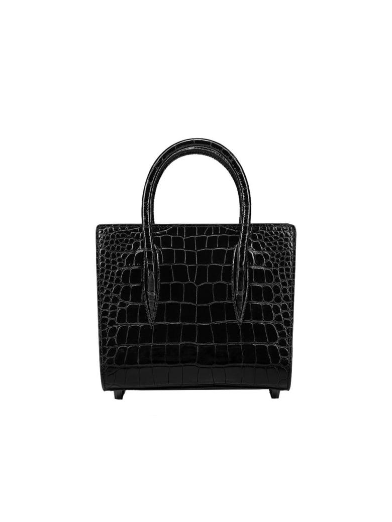 Christian Louboutin Black Cocco Printed Leather Paloma Small Bag - BLACK