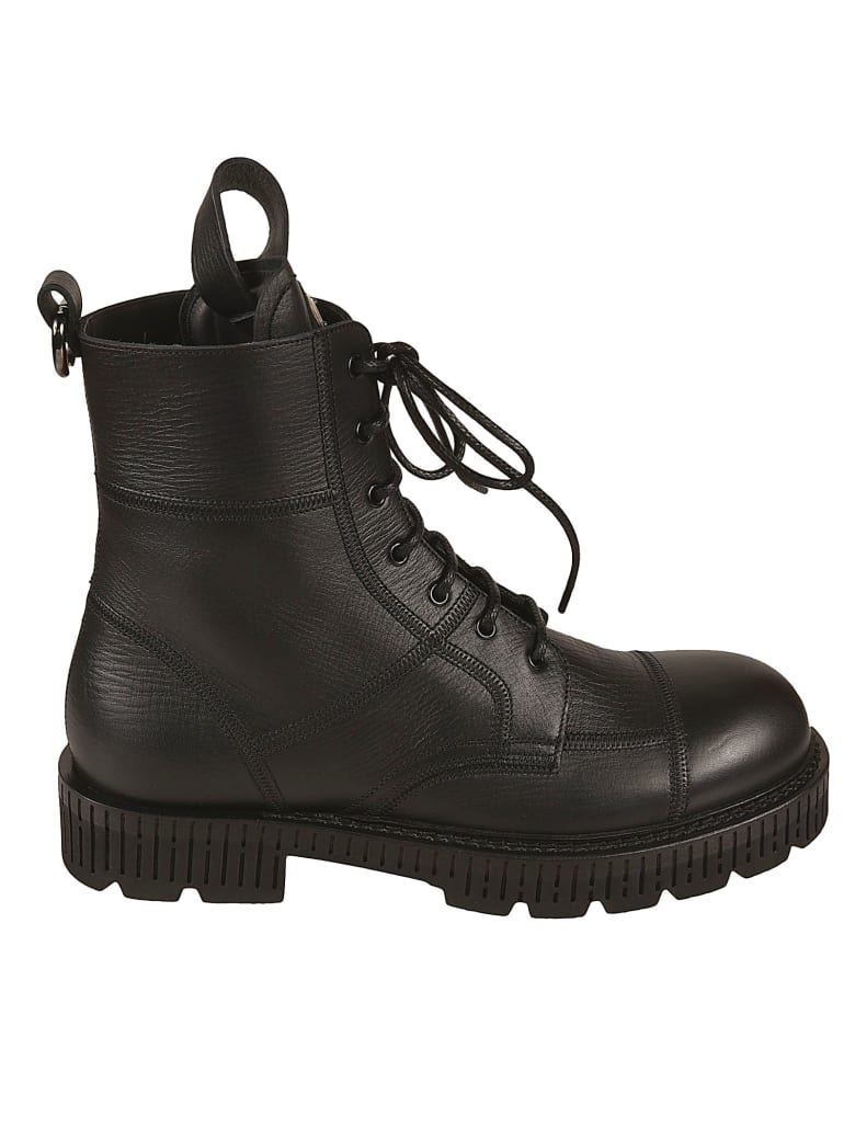Dolce & Gabbana Bernini Lace-up Boots - Black