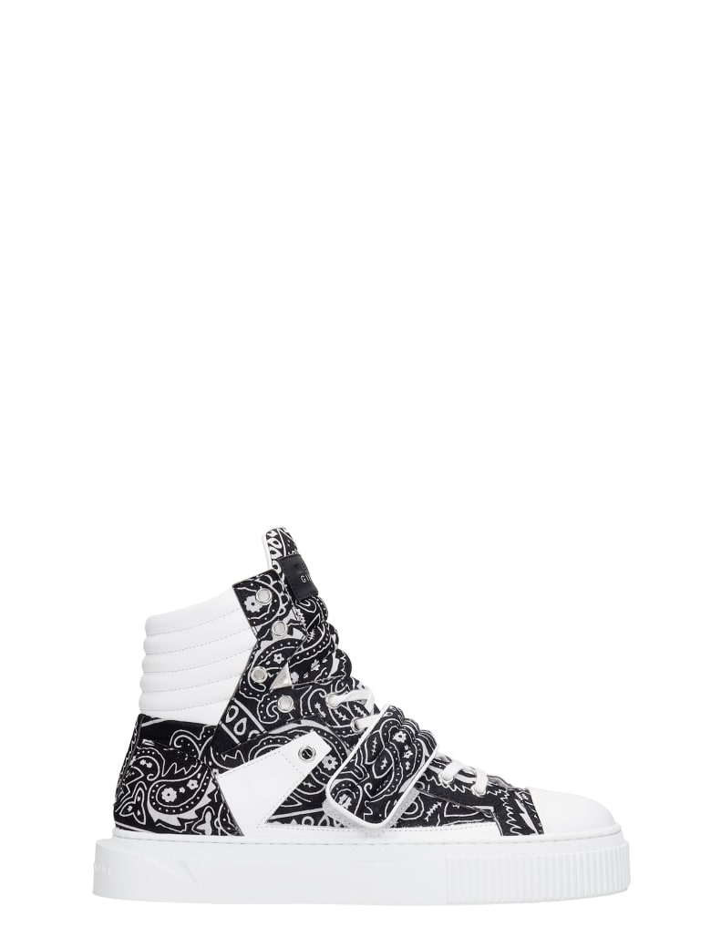 Gienchi Hypnos Sneakers In Black Leather And Fabric - black