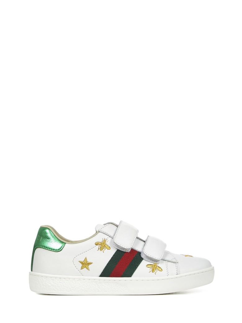 Gucci Junior Ace Sneakers - White