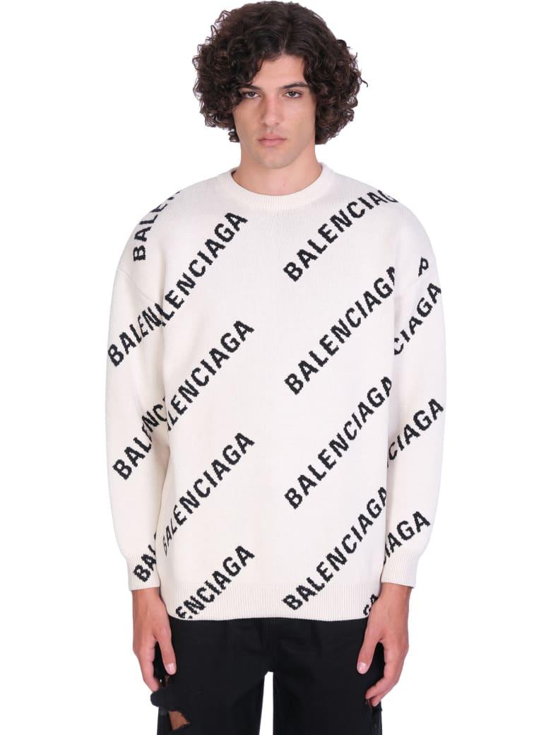 Balenciaga Knitwear In White Cotton - white