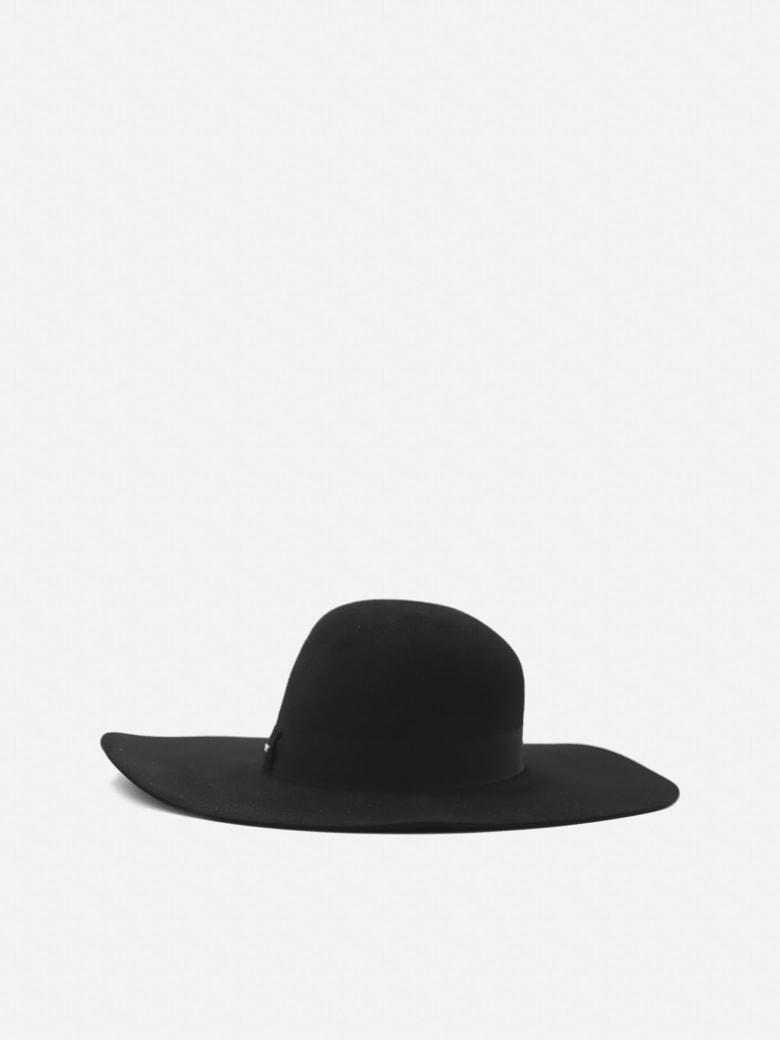 Saint Laurent Felt Hat With Grosgrain Ribbon - Black