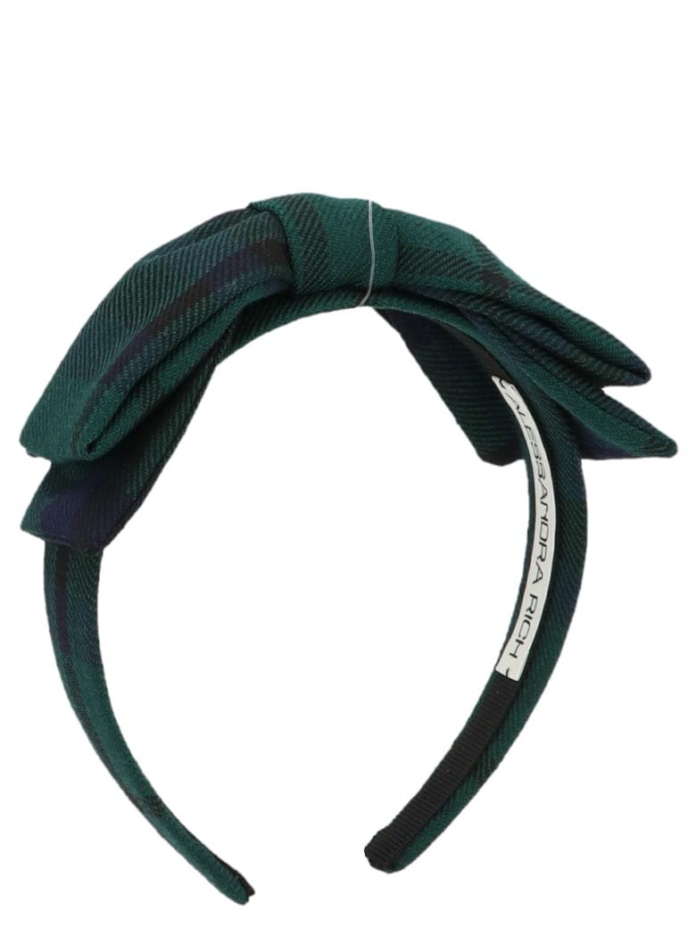 Alessandra Rich Headband - GREEN BLUE