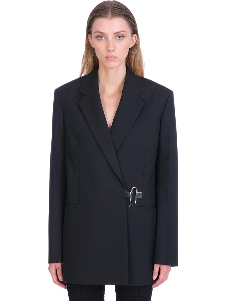 Givenchy Blazer In Black Wool - black