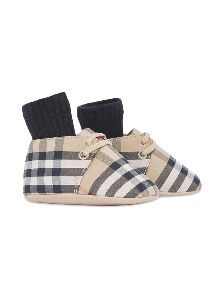Burberry Beige Cotton Blend Shoes - Check