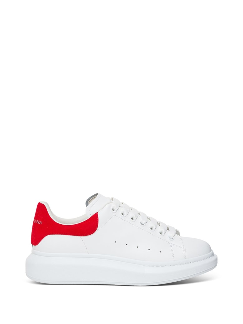 Alexander McQueen Oversize Sneakers In White Leather - White