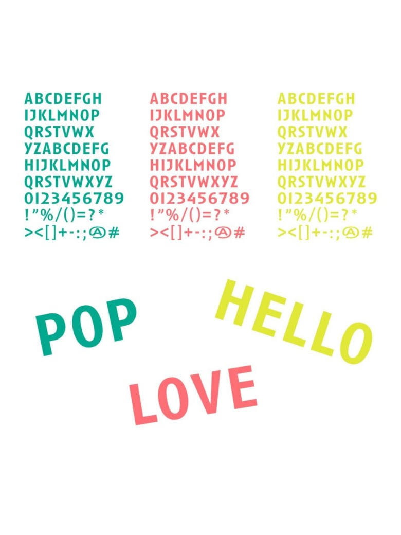 FPM Accessories-stickers Letters - Stickers