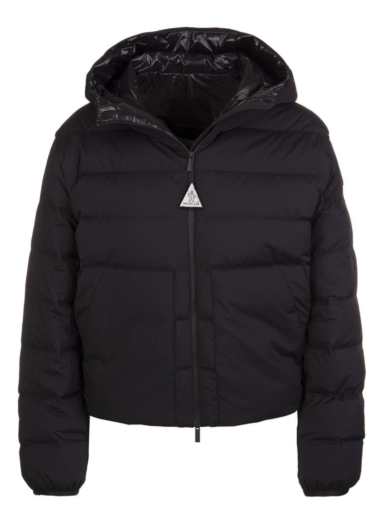 Moncler Black Logo-print  Moncler Padded Jaket