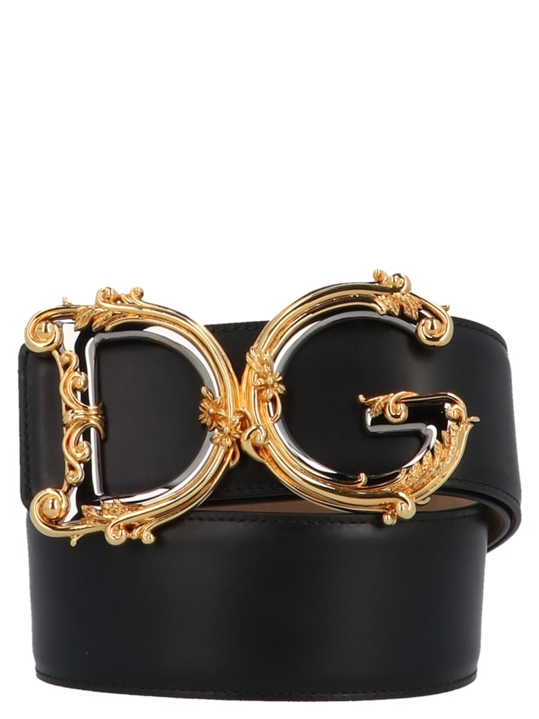 Dolce & Gabbana 'dg Barocco' Belt - Black