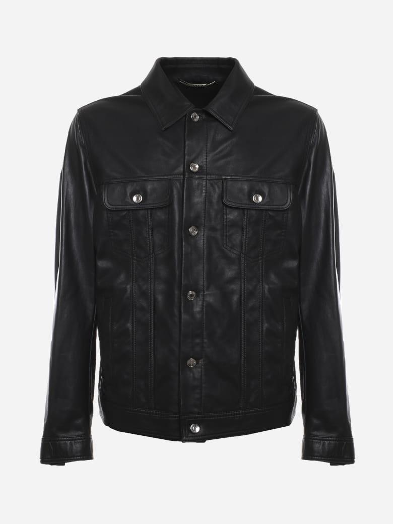 Dolce & Gabbana Black Jacket Made Of Leather - Black